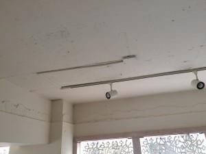 天井などはラフな仕上げだが・・